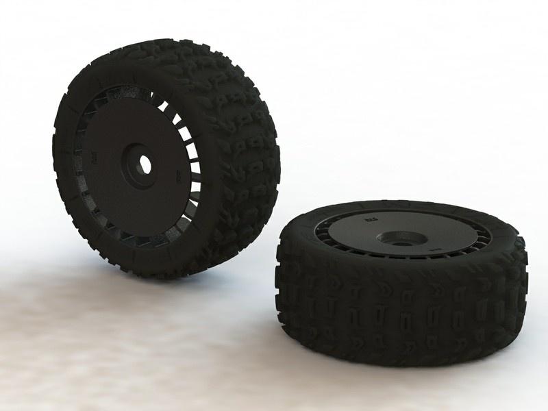 Arrma RC dBoots Katar T 6S Reifen Set verklebt schwarz (2)