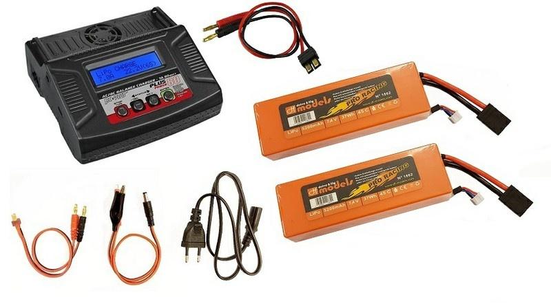 RCPlus Power 80 AC/DC Lader 7A  80W -SPARSET 9- inkl.