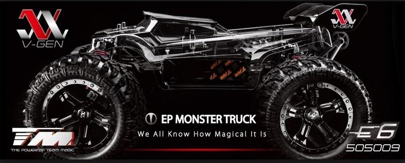 Team Magic E6 III V-GEN 4WD Elektro Monster-Truck