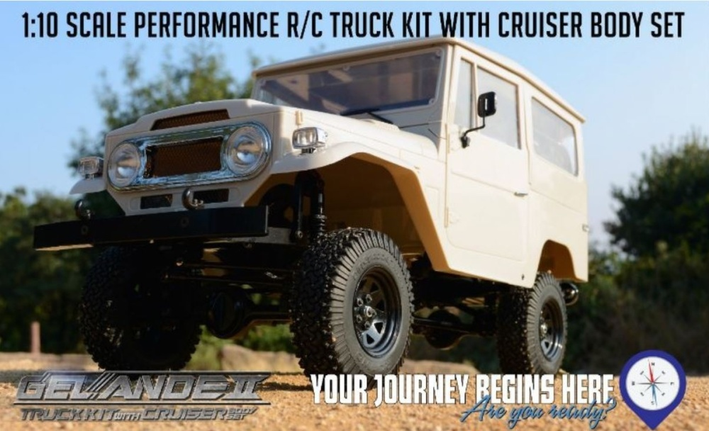 RC4WD Gelände II Truck Kit With Cruiser Body Set Bausatz