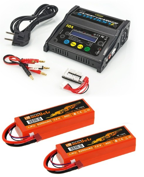 Carson Expert Charger Station 10A +2 x DF LiPo 7.4V 2S