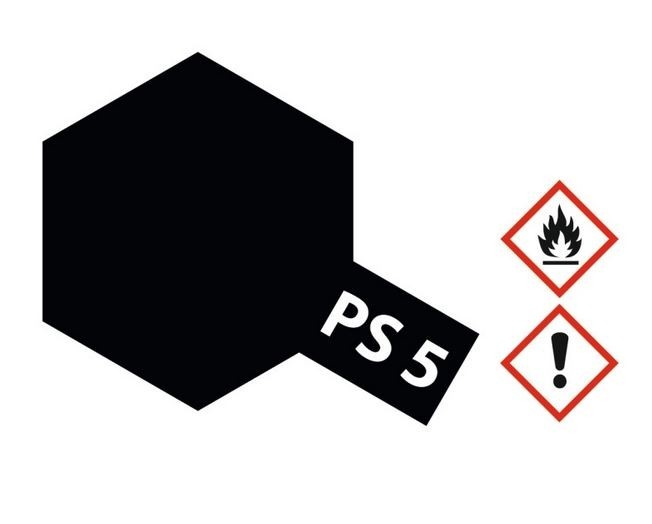Tamiya Lexanlack PS 5 schwarz
