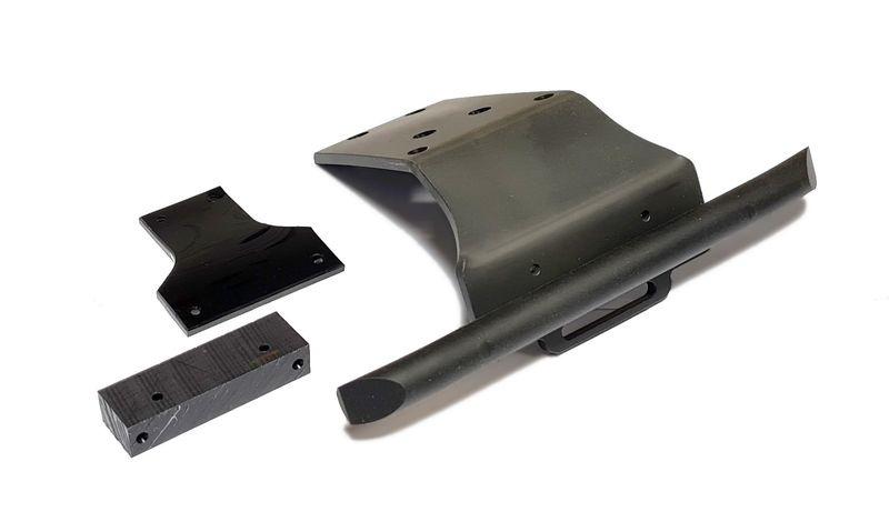 Oktay RC Bumper 4mm für Tekno MT410/ET48.3 schwarz