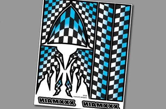 XXX Main Aufkleber - Interner Graphik - Graphite Checkers