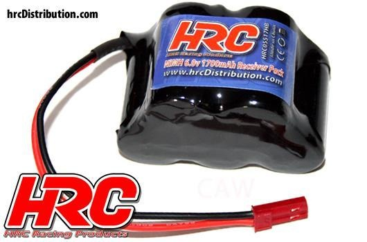 HRC Empfänger Akku 6V 1700mAh Hump BEC-Stecker