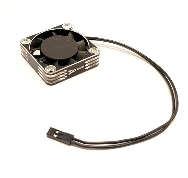 XCEED Aluminum Fan for ESC and Motor 40 x 40 mm - Silver