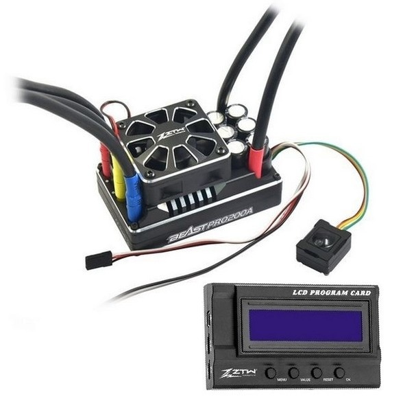 ZTW Brushless ESC 1:5 Beast Pro 200A + LCD Card