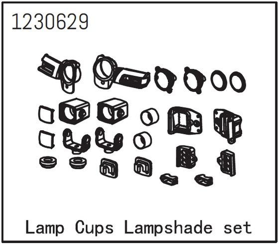 Absima Lampensockel und Lampenschirmsatz