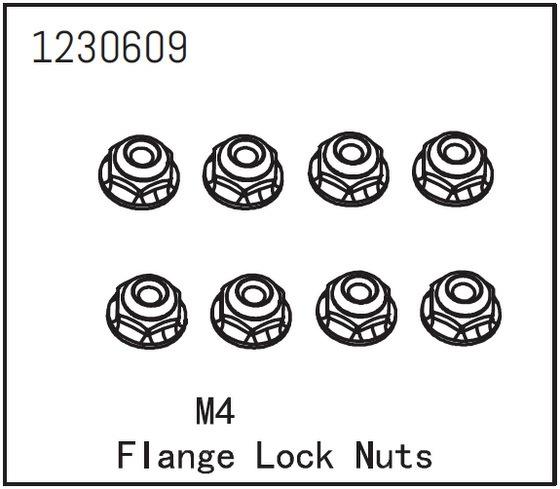 Absima Flanschmutter M4 (8)