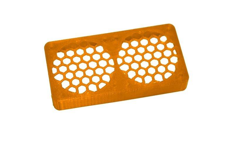 JS-Parts ultraflex Lüftergitter 2x40x10 geschlossen orange