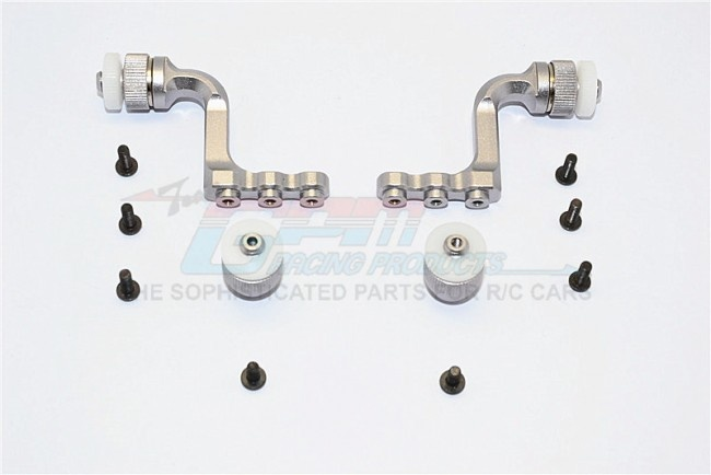 GPM aluminium front+rear body mount for CC01 Mitsubishi