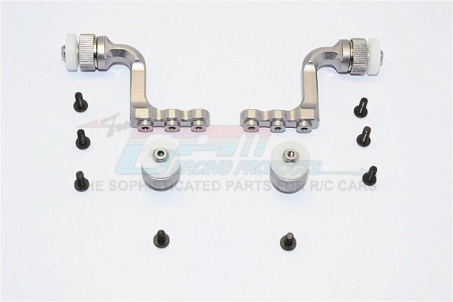 GPM aluminium front+rear body mount for CC01 Mitsubishi