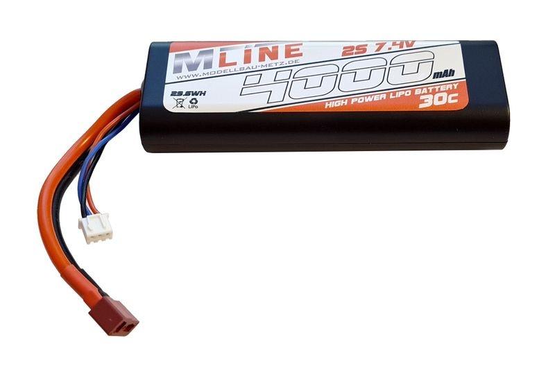 MLine Power Racing 30C - 4000mAh - 2S - 7,4V - T-Plug -