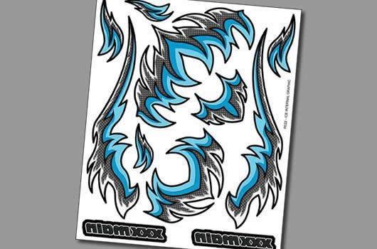 XXX Main Aufkleber - Interner Graphik - Ice