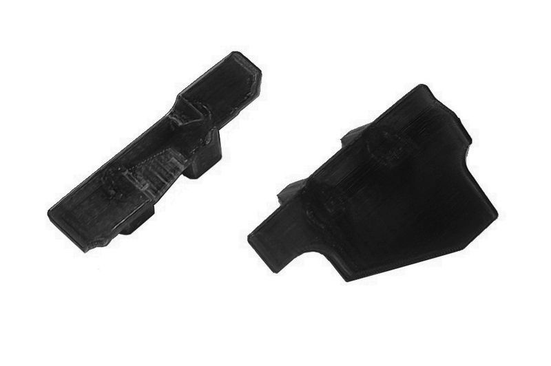 JS-Parts ultraflex Akkuhalter Abdeckplatten schwarz