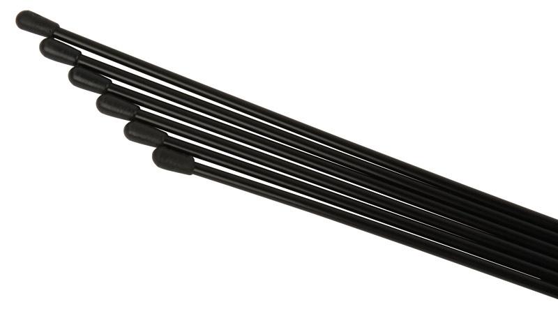 Robitronic Antennenrohr 6 Stück (Schwarz)
