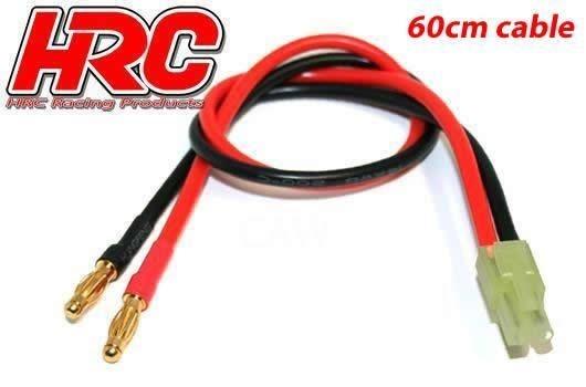 HRC Racing Ladekabel - 4mm Bullet zu Mini Tamiya Stecker