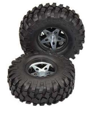 Amewi 48.2mm CNC Felgen mit Reifen D90 schwarz, Reifen 108mm