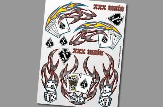 XXX Main Aufkleber - Texas Holdem Poker
