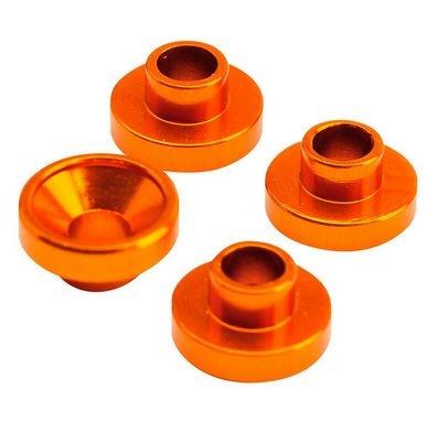 Absima/Team C Servohalterungshülsen 4.3mm orange, 4 Stk.