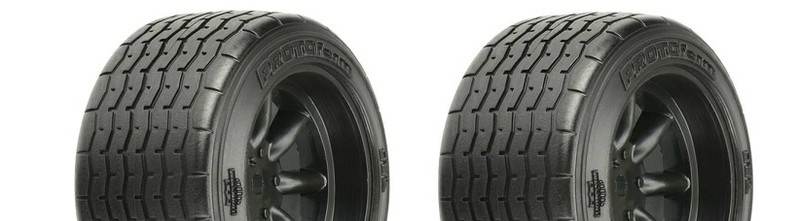 Pro Line VTA Reifen hinten (31mm) auf Felge schwarz