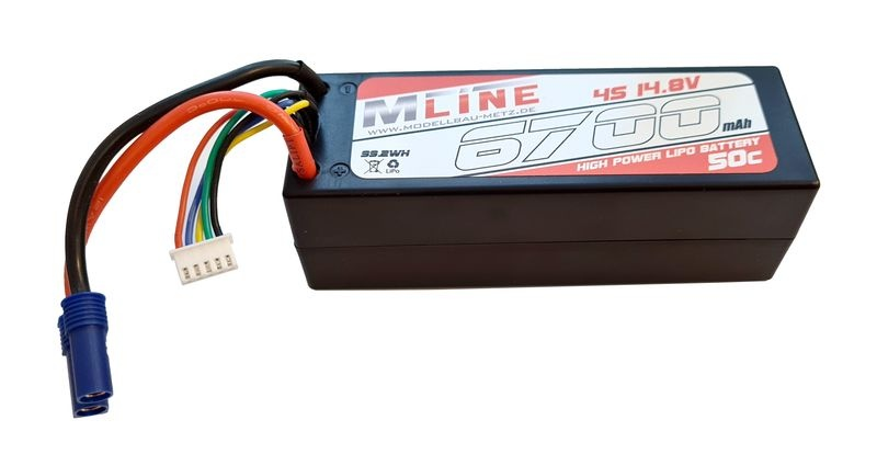 MLine Power Racing 50C - 6700mAh - 4S - 14,8V - EC5 -