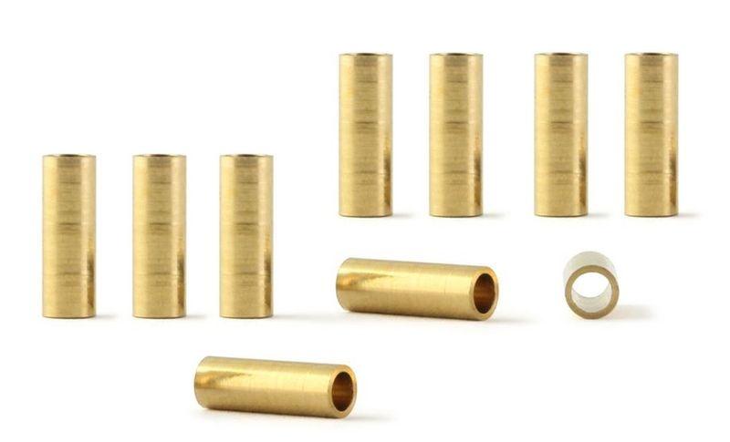 NSR Axle Spacers/Achsdistanzen 3/32 brass - 3,750/9.50 mm
