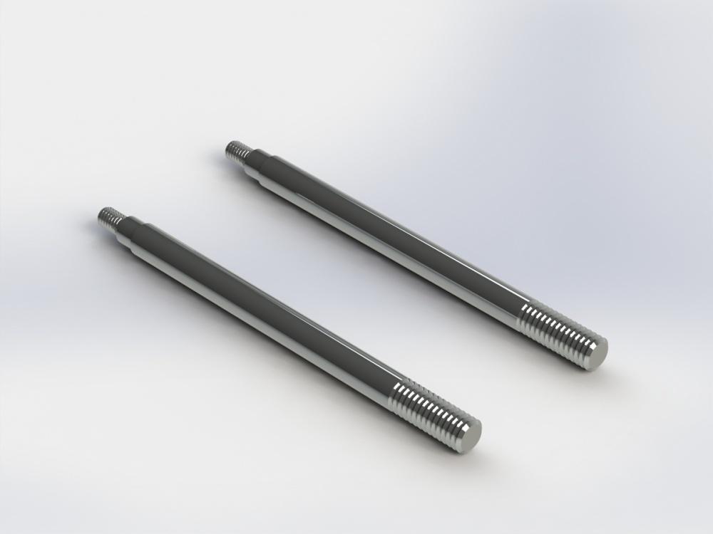 Arrma RC Dämpfer-Kolbenstange Nero 4x60mm (2)