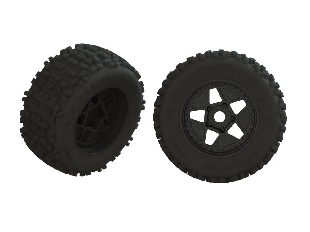 Arrma dBoots BACKFLIP Tire Set Glued (1pr) (ARA550064)
