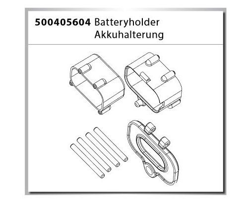 Carson X-Crawlee Pro Batteryholder/Akkuhalterung
