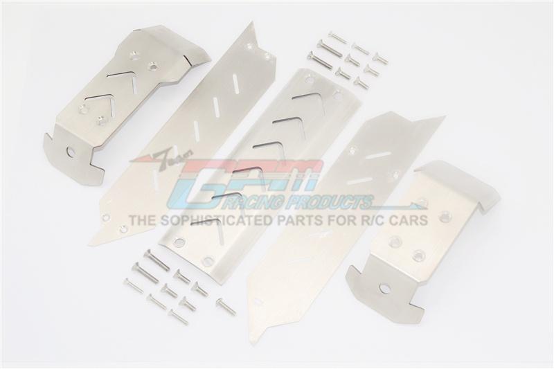 Auslauf-GPM Traxxas 1:10Maxx Stainless Steel Skid Plates