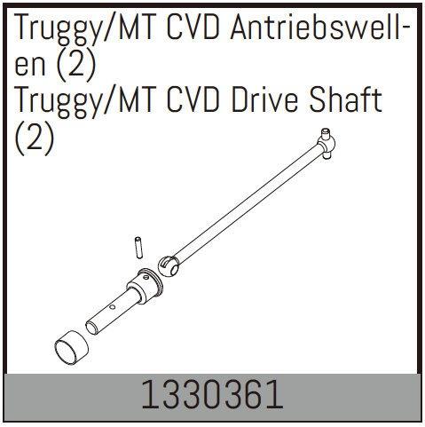 Absima Truggy/MT CVD Antriebswellen (2)