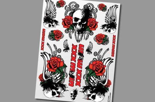 XXX Main Aufkleber - Skulls & Roses