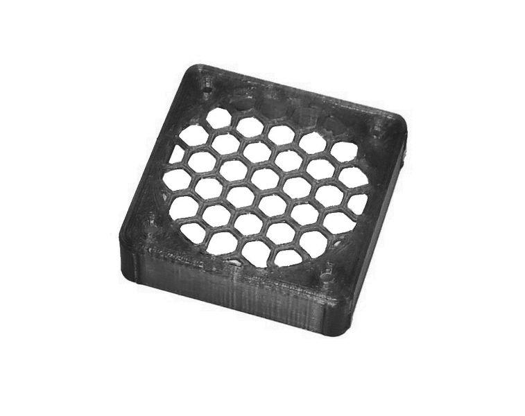 JS-Parts ultraflex Lüftergitter 40x10 geschlossen schwarz