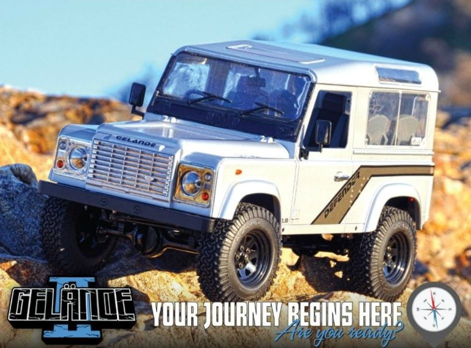 RC4WD Gelände II Truck Kit With Defender D90 Body Set