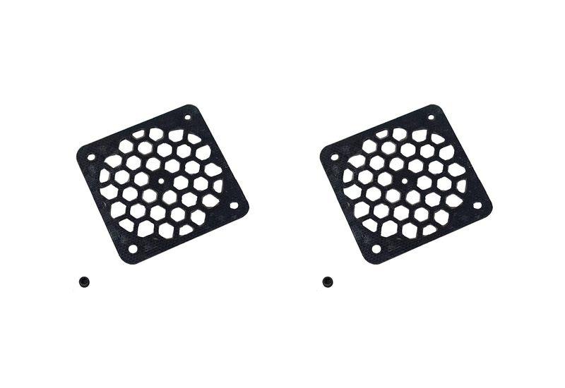 JS-Parts Lüftergitter 40mm / 2 Stück (Set) schwarz