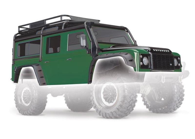 Traxxas Karo, Land Rover Defender, grün/schwarz
