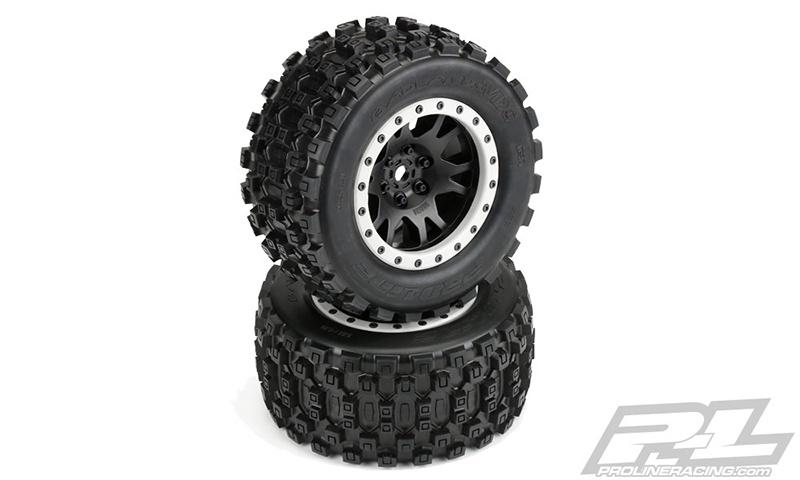 Pro-Line BADLANDS MX43 All Terrain Truck Reifen v/h (2) 4.3