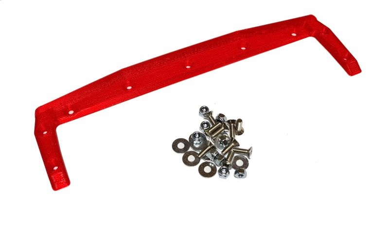 JS-Parts ultraflex Heckkante für X-MAXX Body von TMT rot