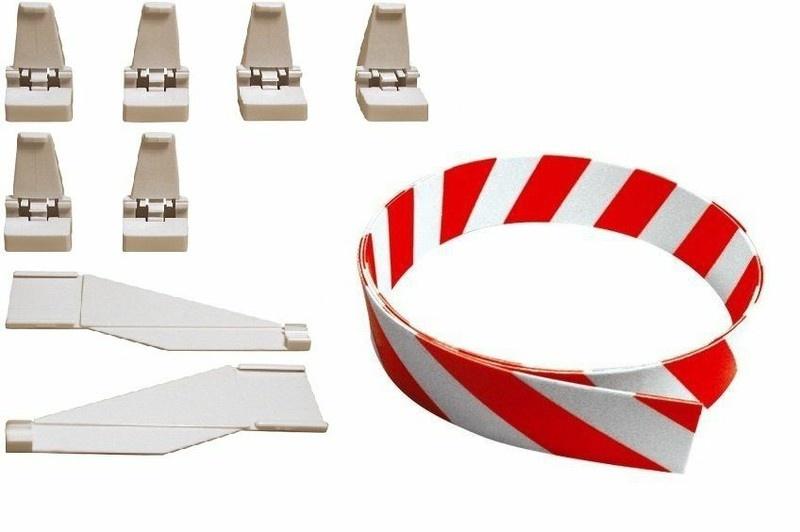 Carrera Leitplanke rot/weiss Evo/Dig. 132/124 -Meterware-
