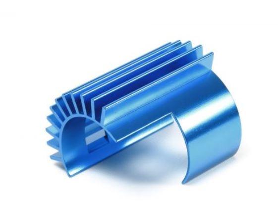 Tamiya TT-02 Alu Motorkühlkörper blau eloxiert