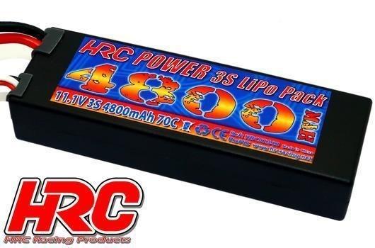 HRC Power 3S LiPo Pack 11.1V 4800mAh 70C Hardcase XT90