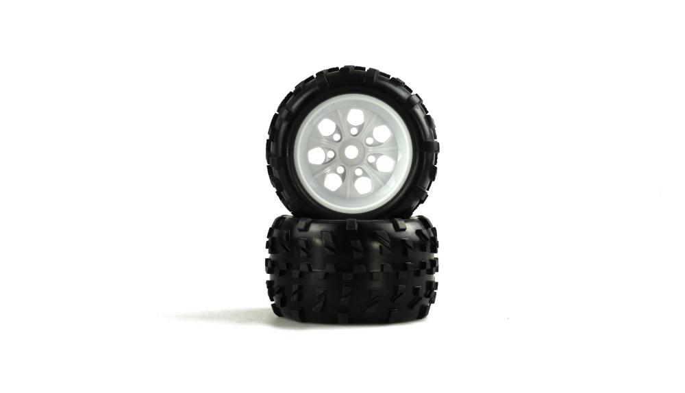 Amewi Monstertruck Kompletträder 1:8 Weiße Felge, 2 Stück