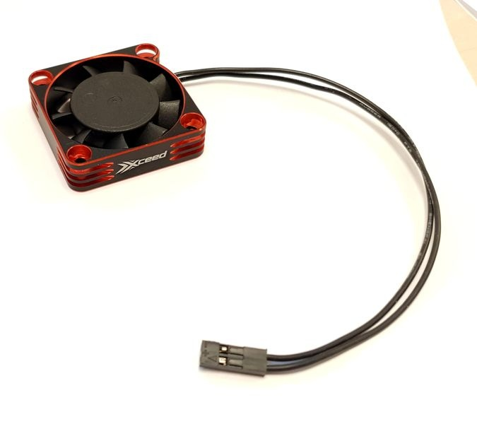 XCEED Aluminum Fan for ESC and Motor 40 x 40 mm - Rot