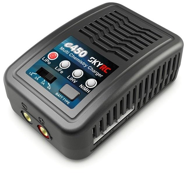 SKYRC e450 AC Ladegerät NiMh 6-8 / LiPo 2-4s 1-4A 50W