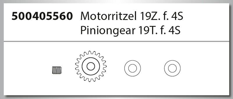 Carson X8EB Specter BL 4S/6S Motorritzel 19Z 4S