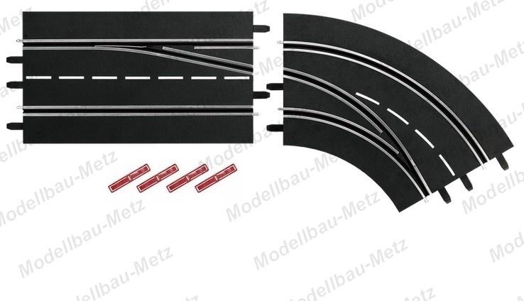 Carrera Digital 124/132 Spurwechselkurve rechts Aussen nach