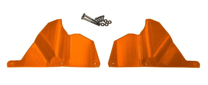 JS-Parts Mudguards für Traxxas X-Maxx orange
