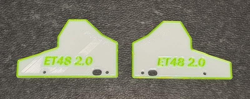 JS-Parts Mudguards ultraflex für Tekno ET48 2.0 weiß/grün