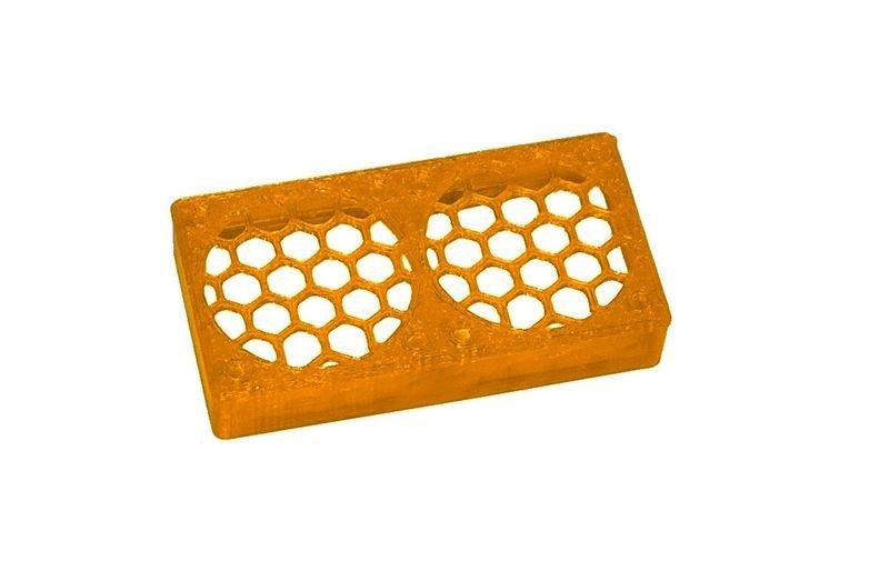 JS-Parts ultraflex Lüftergitter 2x30x10 geschlossen orange